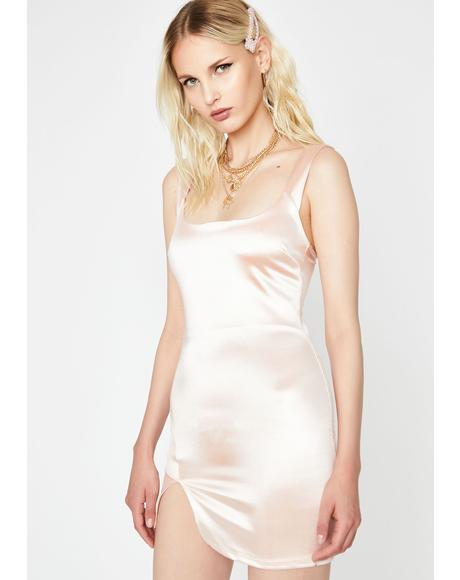 Champagne In Bed Mini Dress