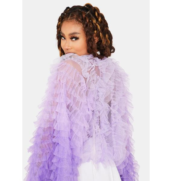 Lilac Main Attraction Ruffle Jacket
