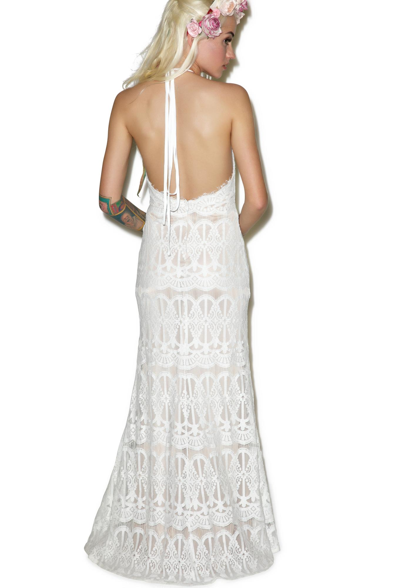 Glamorous Swan Lake Maxi Dress