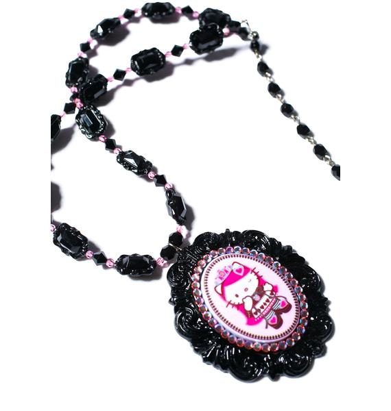 Tarina Tarantino Crystal Queen Of Pink Cameo Necklace
