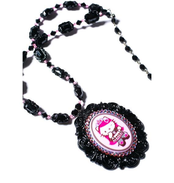 Tarina Tarantino Crystal Queen Of Pink Cameo Necklace