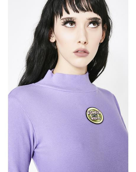 x Daria Sick Sad World Roll Neck Top
