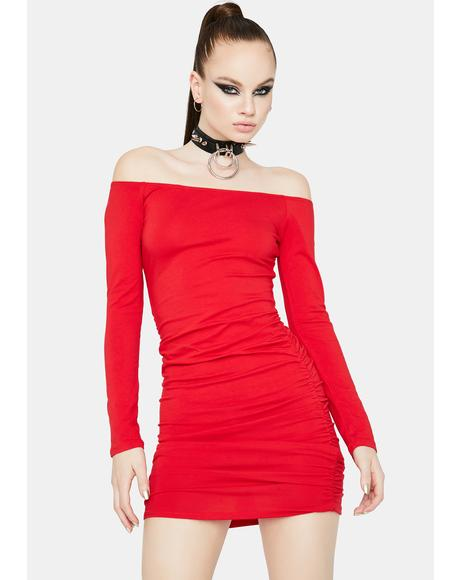 Hot Billionaire Beau Off Shoulder Mini Dress