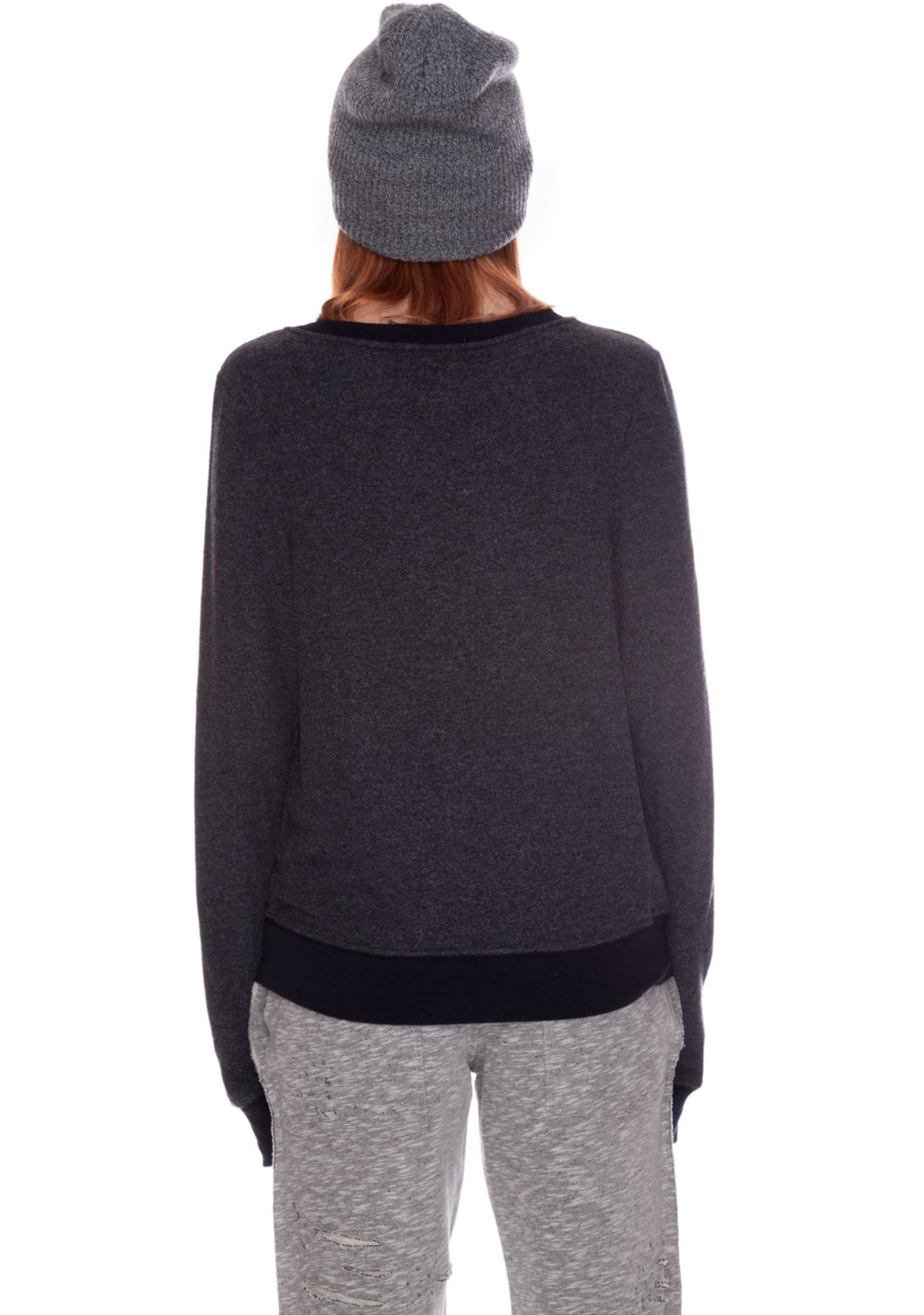 Wildfox Couture Cat and Moon Baggy Beach Jumper