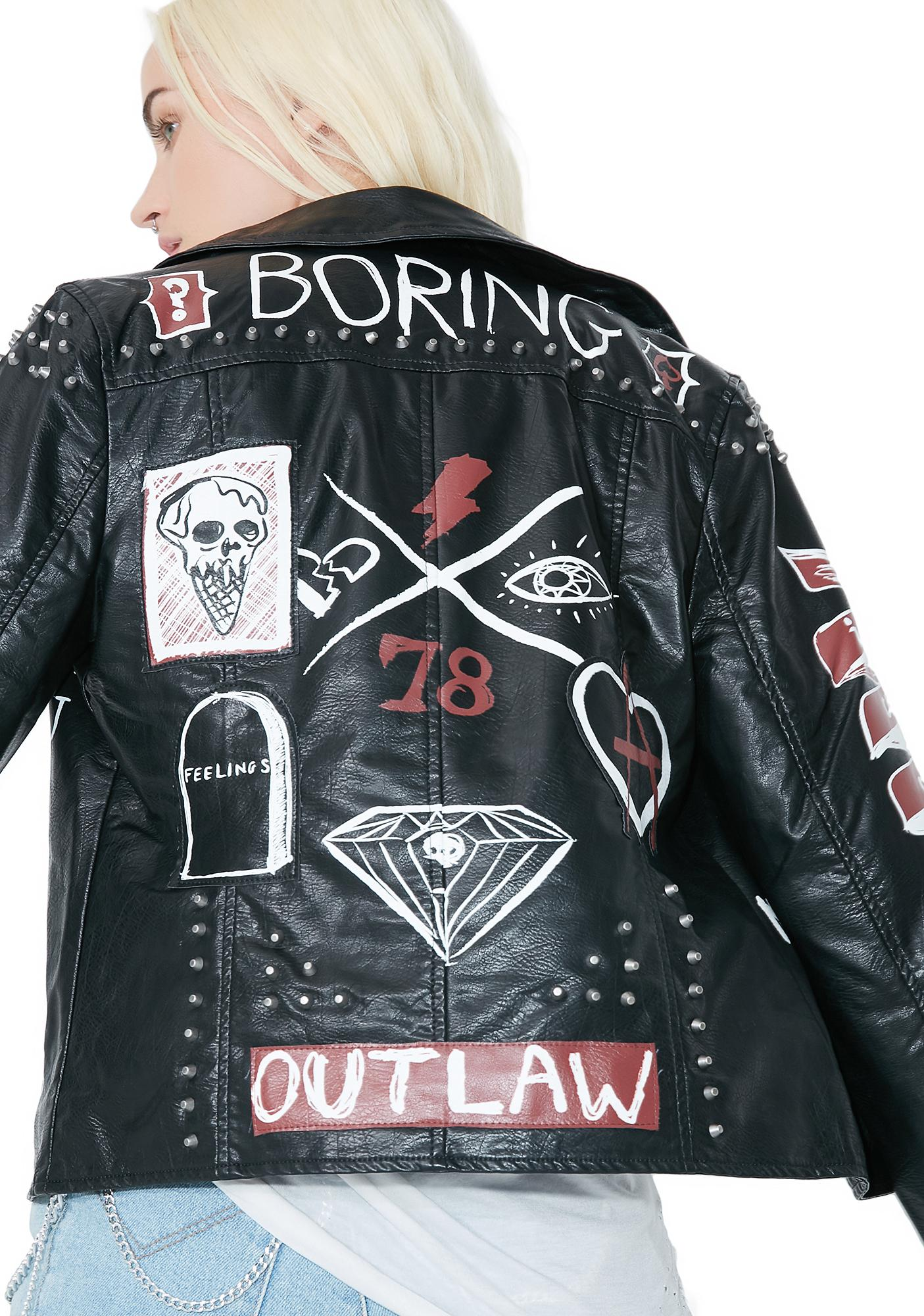 Glamorous Midnight Ride Biker Jacket