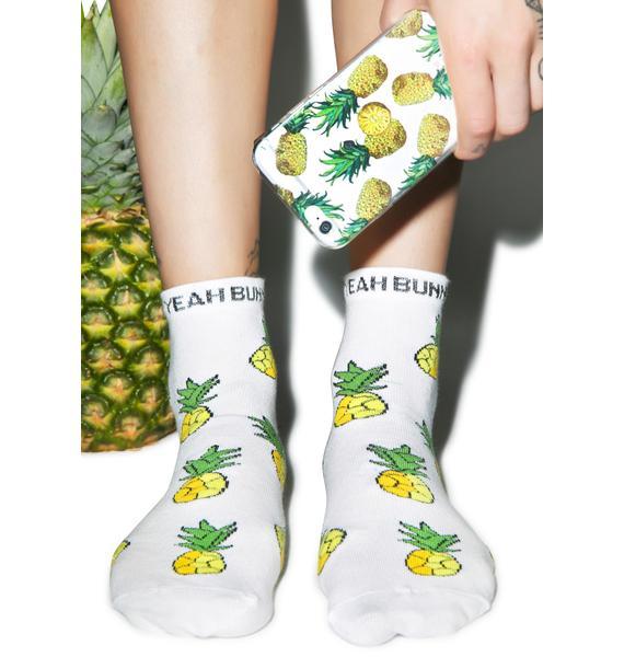 Yeah Bunny Pineapple Socks
