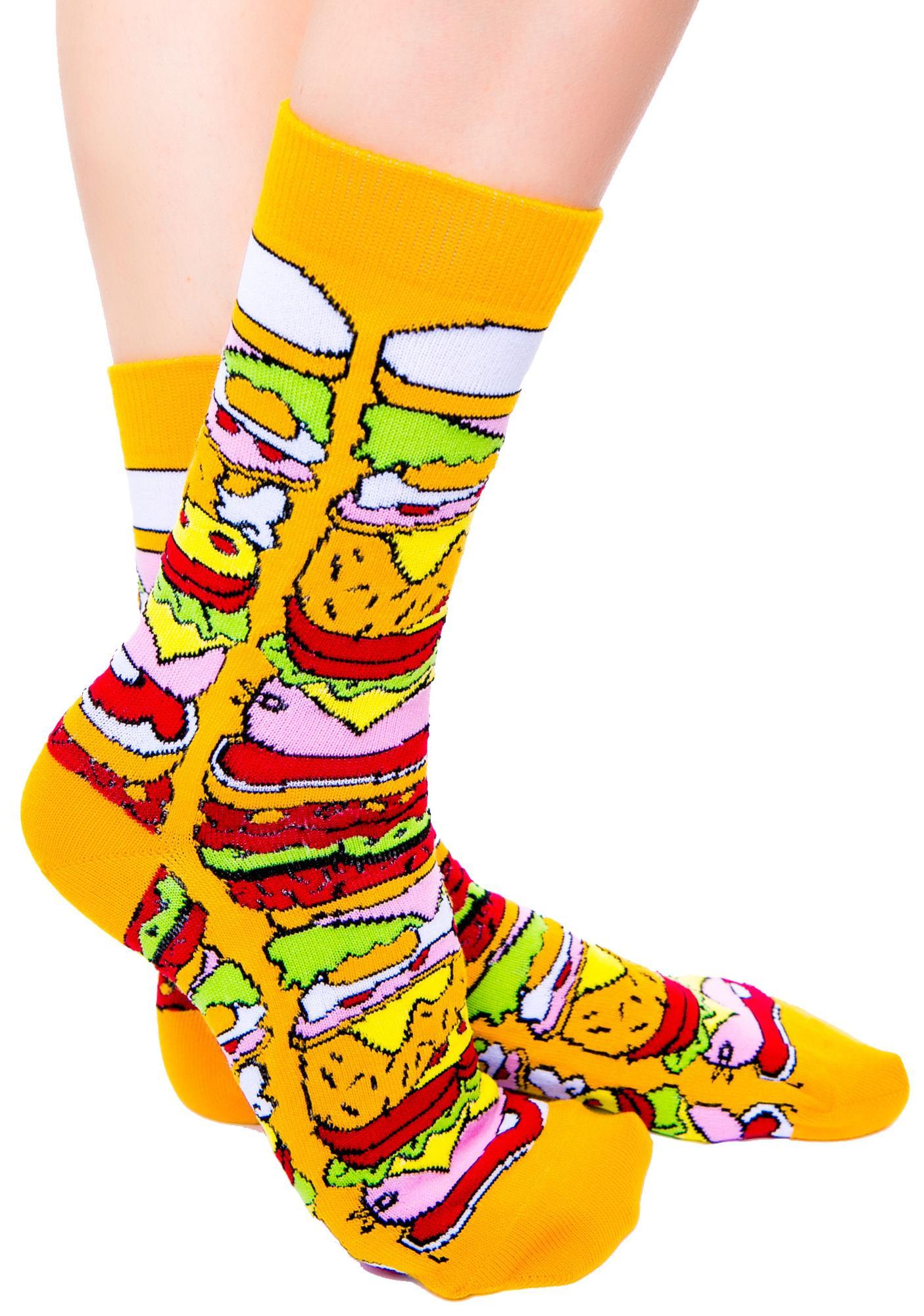 Lazy Oaf Cheesy Feet Socks