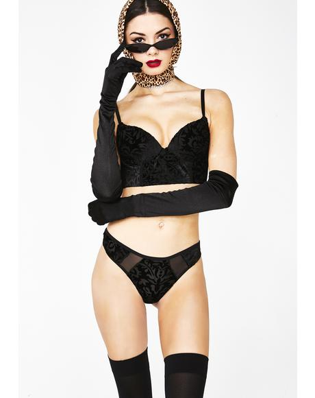 Sultry Nights Velvet Bra