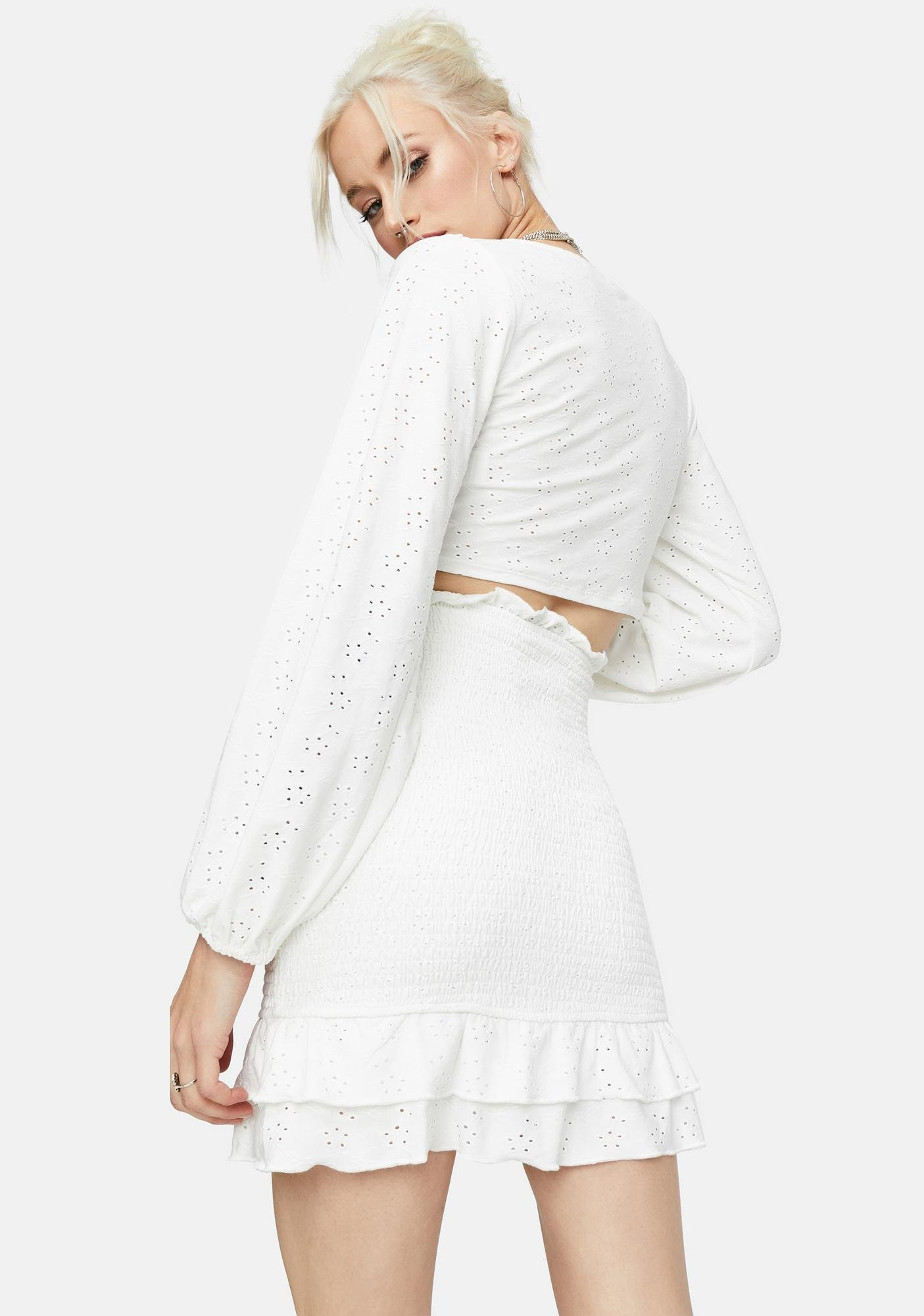 Room With A View Eyelet Crop Top
