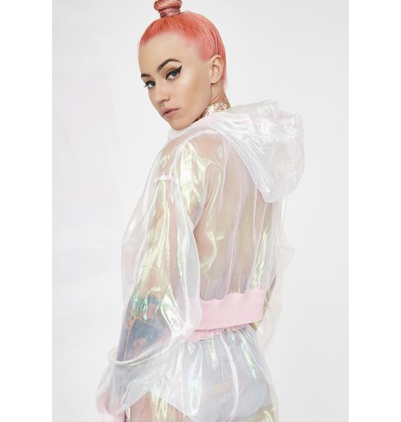 Club Exx Illuminary Fairy Crop Hoodie