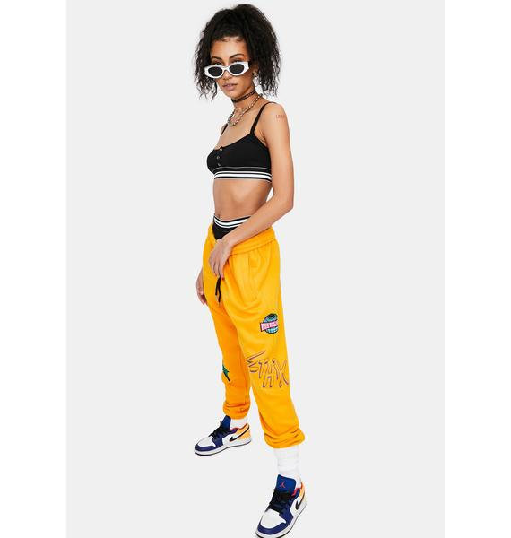 ETHIK Yellow Modern Life Sweatpants