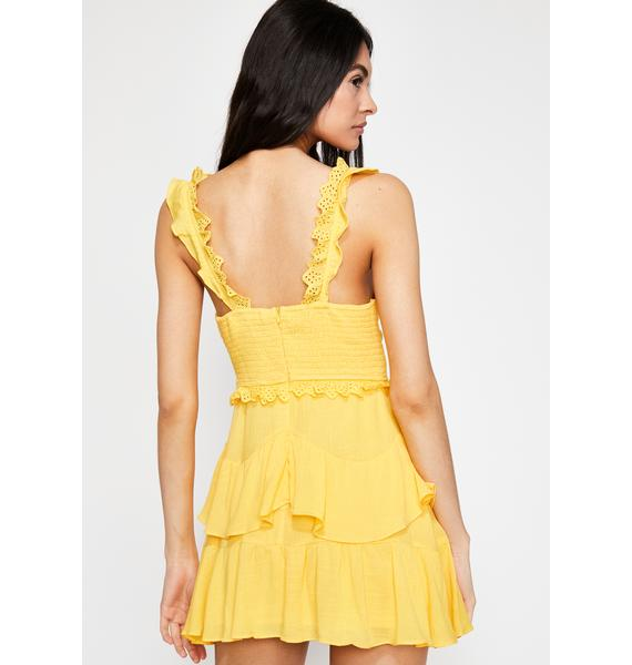 Tropical Bite Ruffled Dress