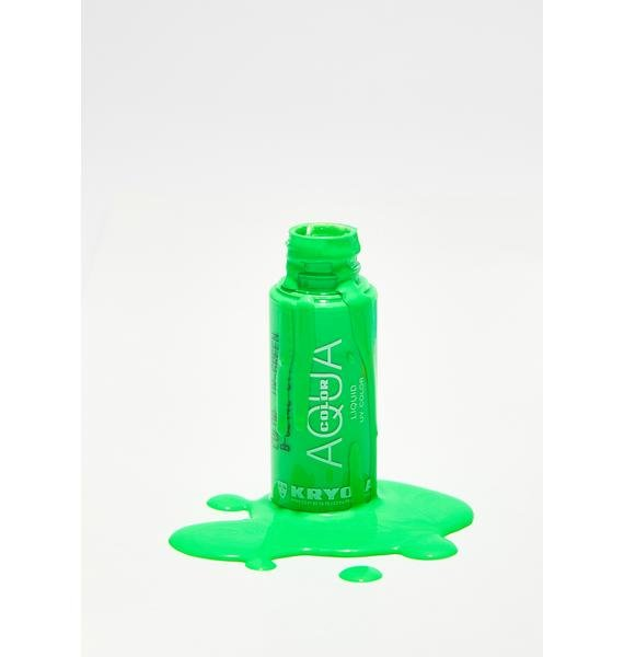 Kryolan Green Aquacolor Liquid UV Color