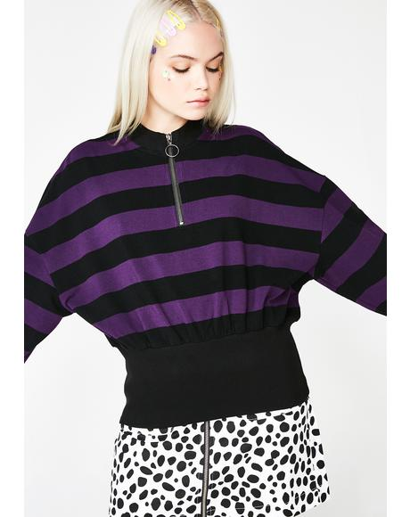 Big Rib Stripe Sweatshirt