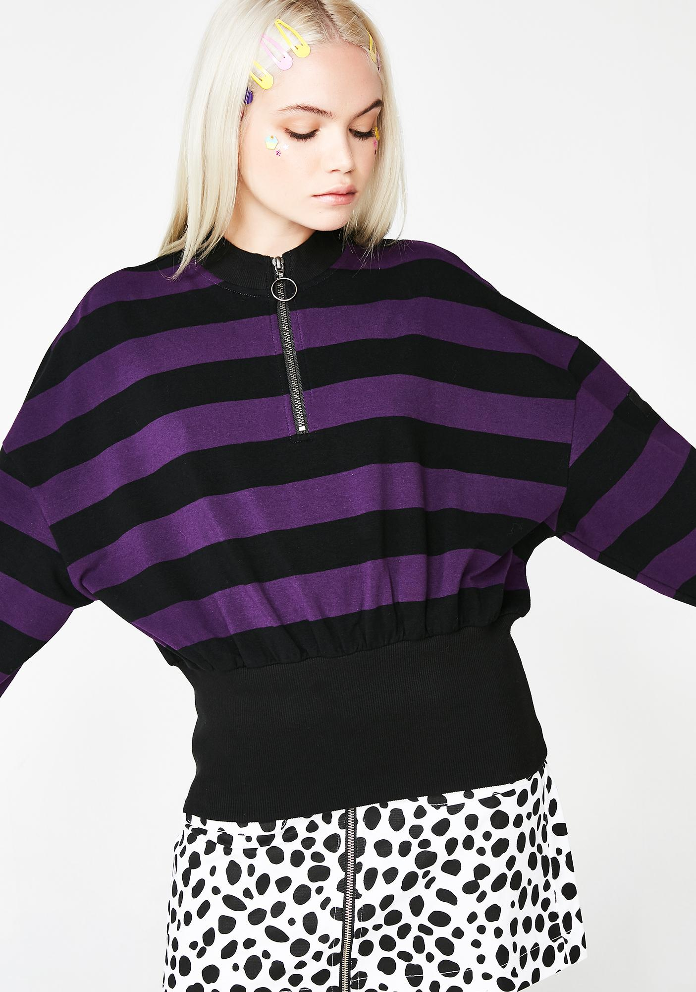 Lazy Oaf Big Rib Stripe Sweatshirt