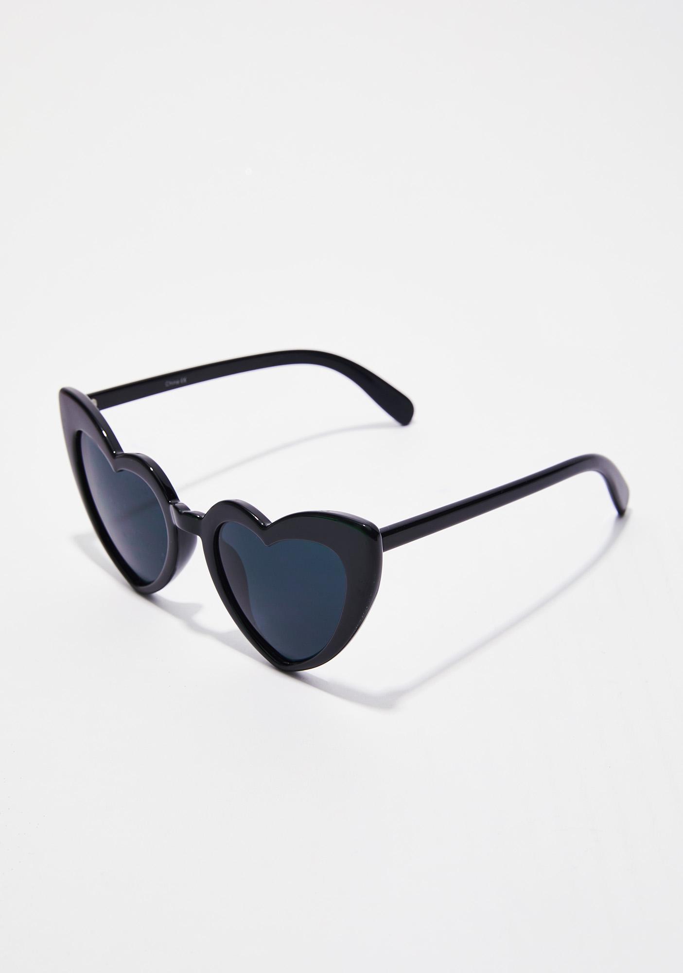 Dark Love Me Heart Sunglasses