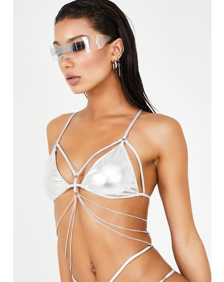 Chrome Digital Ecstasy Harness Top