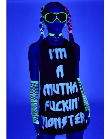 Monster Queen Glow In The Dark Shirt Dress