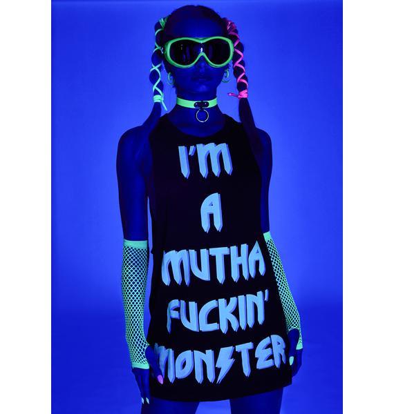 Club Exx Monster Queen Glow In The Dark Shirt Dress