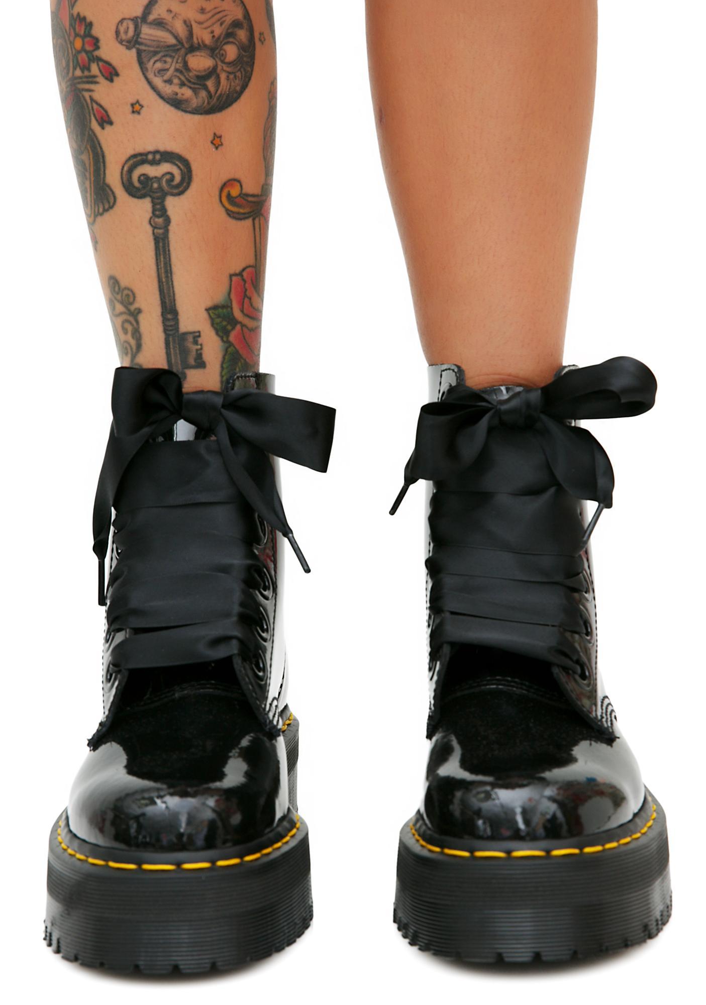 Dr. Martens Molly Glitter Flatform Boots GUb0S9R