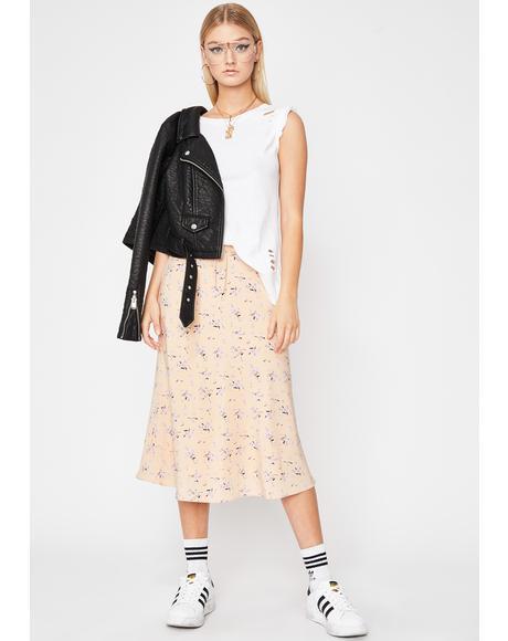 Petal Pickin' Midi Skirt