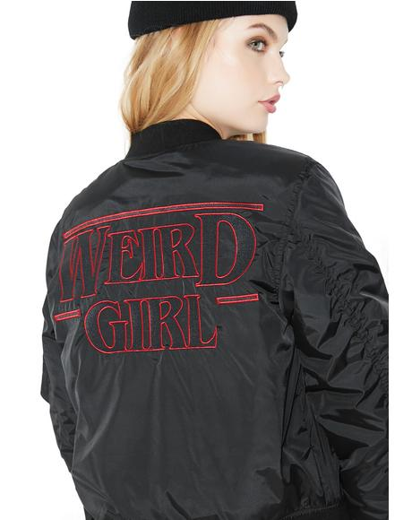Weird Girl MA1 Bomber Jacket