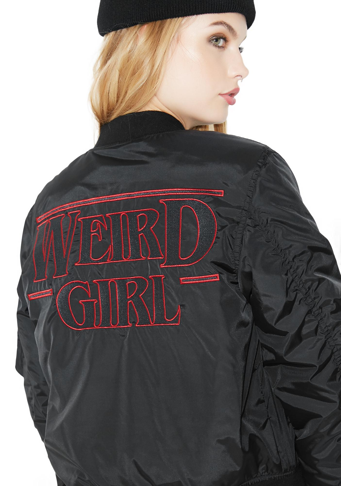 Killstar Weird Girl MA1 Bomber Jacket