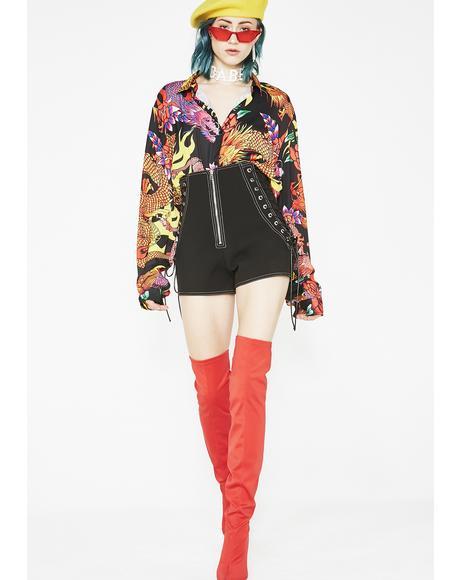 Padlock Zip Shorts