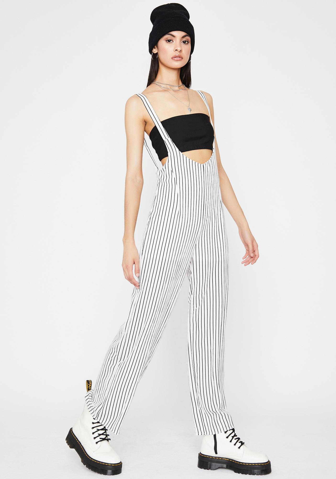 Clownin' Around Striped Jumpsuit