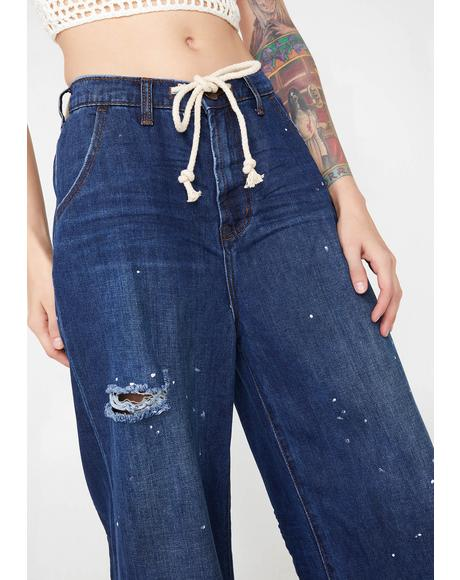 Bad Boys High Waist Wide Leg Jeans