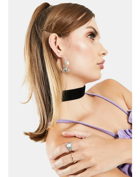 Wing It Hoop Earrings