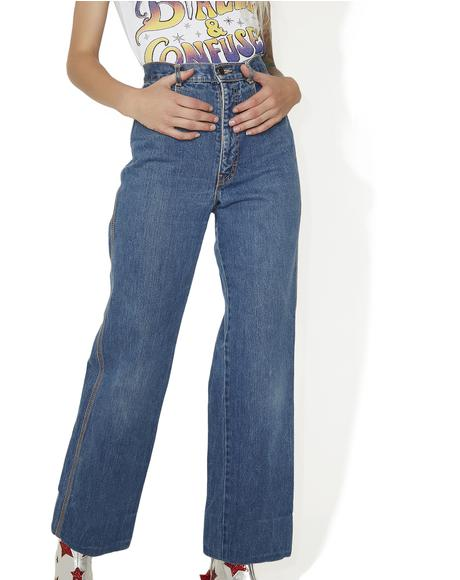 Vintage 70s Highwaisted Brittania Jeans