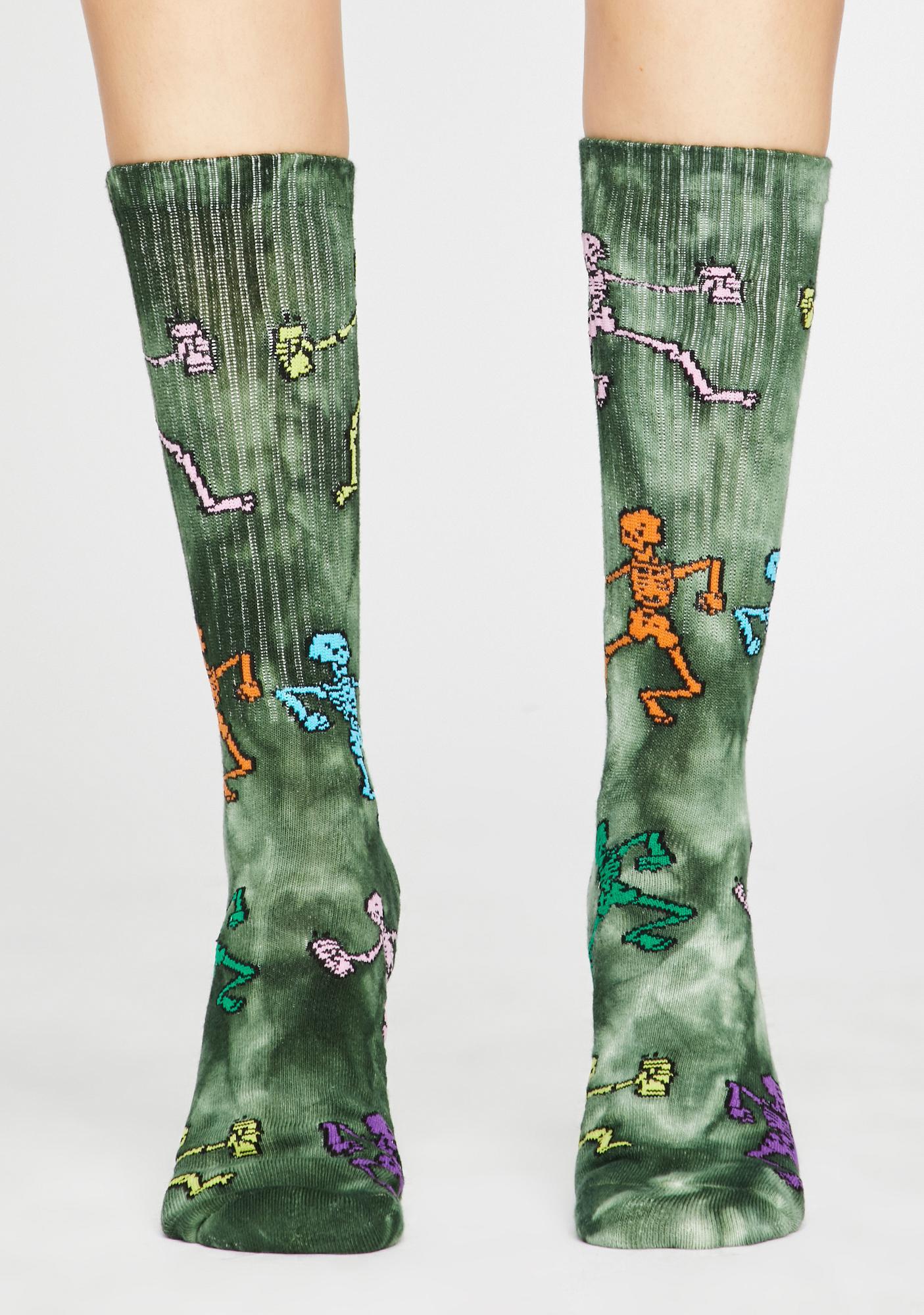 Ghastly Funny Bone Tie Dye Socks