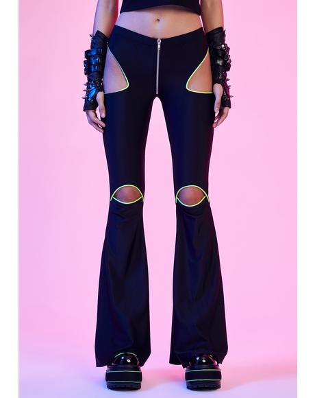 Rave Vixen Cut-Out Flare Pants