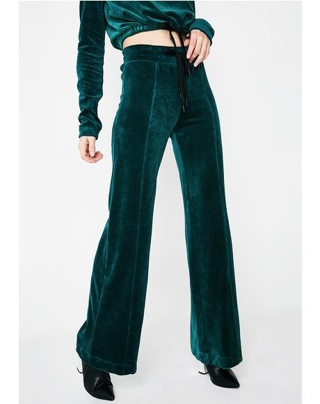 Velour Warm Up Pants