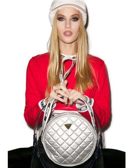 Silver Sheen Shoulder Bag