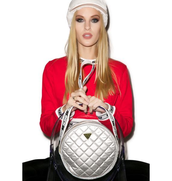 Joyrich Silver Sheen Shoulder Bag