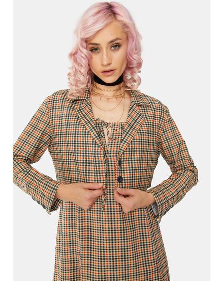 Country Check Noly Crop Blazer