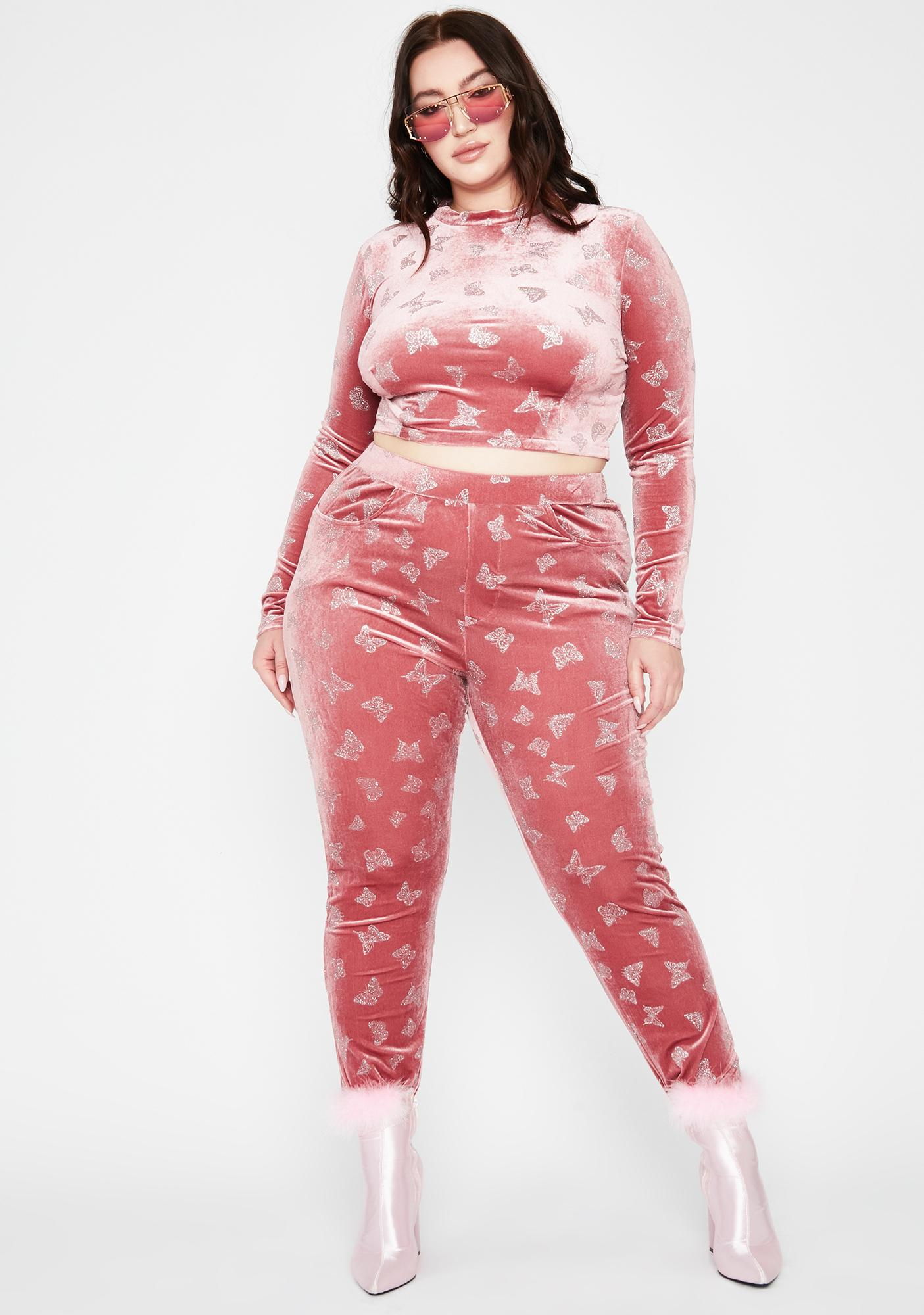 Candy Forever Cute Complex Butterfly Pants