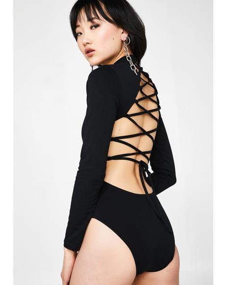Neon Dragons Lace-Up Bodysuit