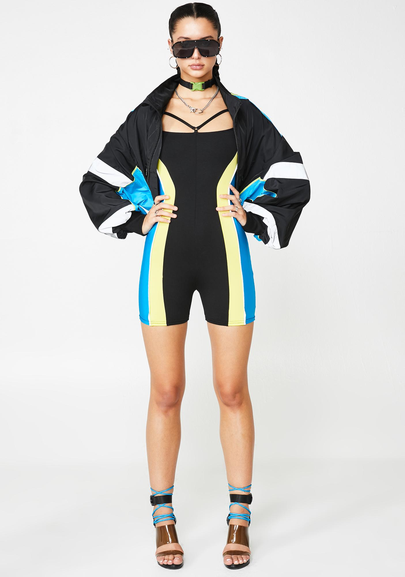 Poster Grl Major Facts Colorblock Playsuit