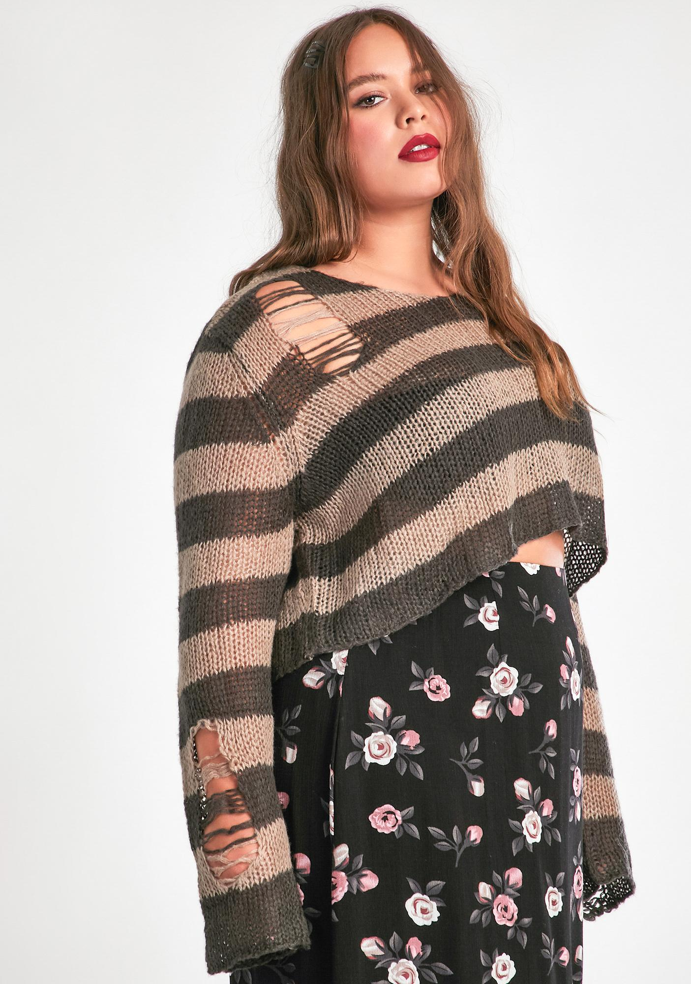 dELiA*s by Dolls Kill Now Dig On This Crop Sweater