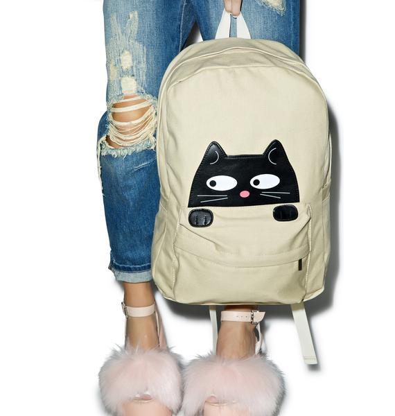 Peeping Cat Backpack