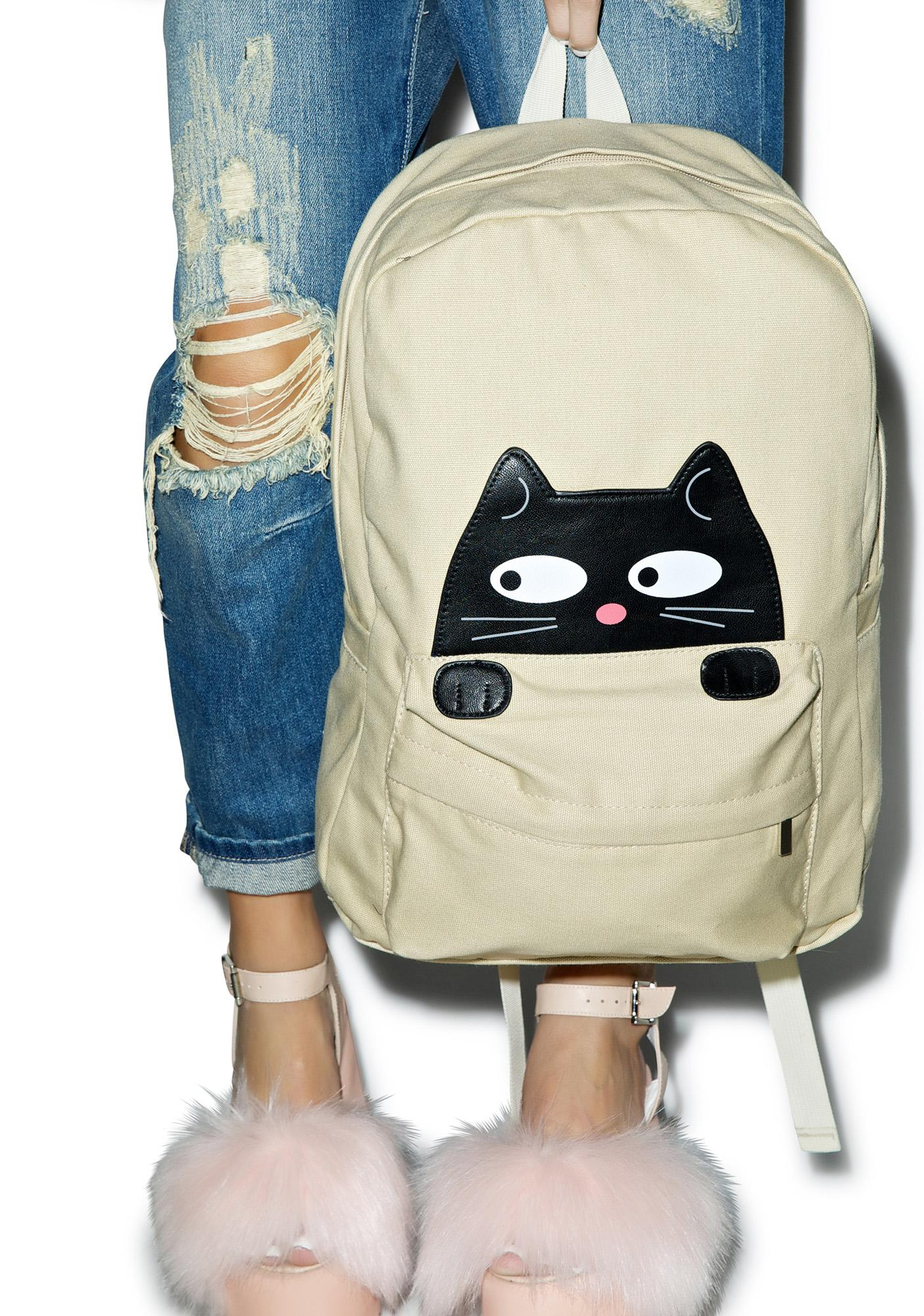 Peeping Cat Backpack