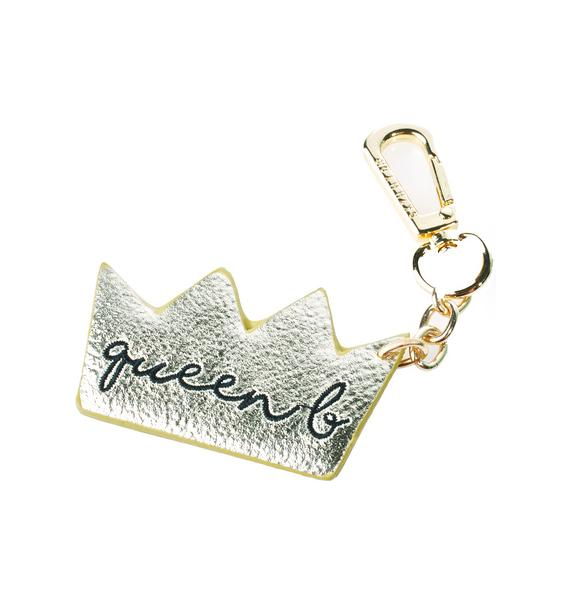 Skinnydip Queen B Plushie Key Charm