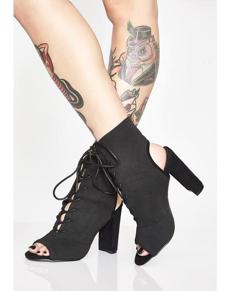 Look My Way Cutout Booties