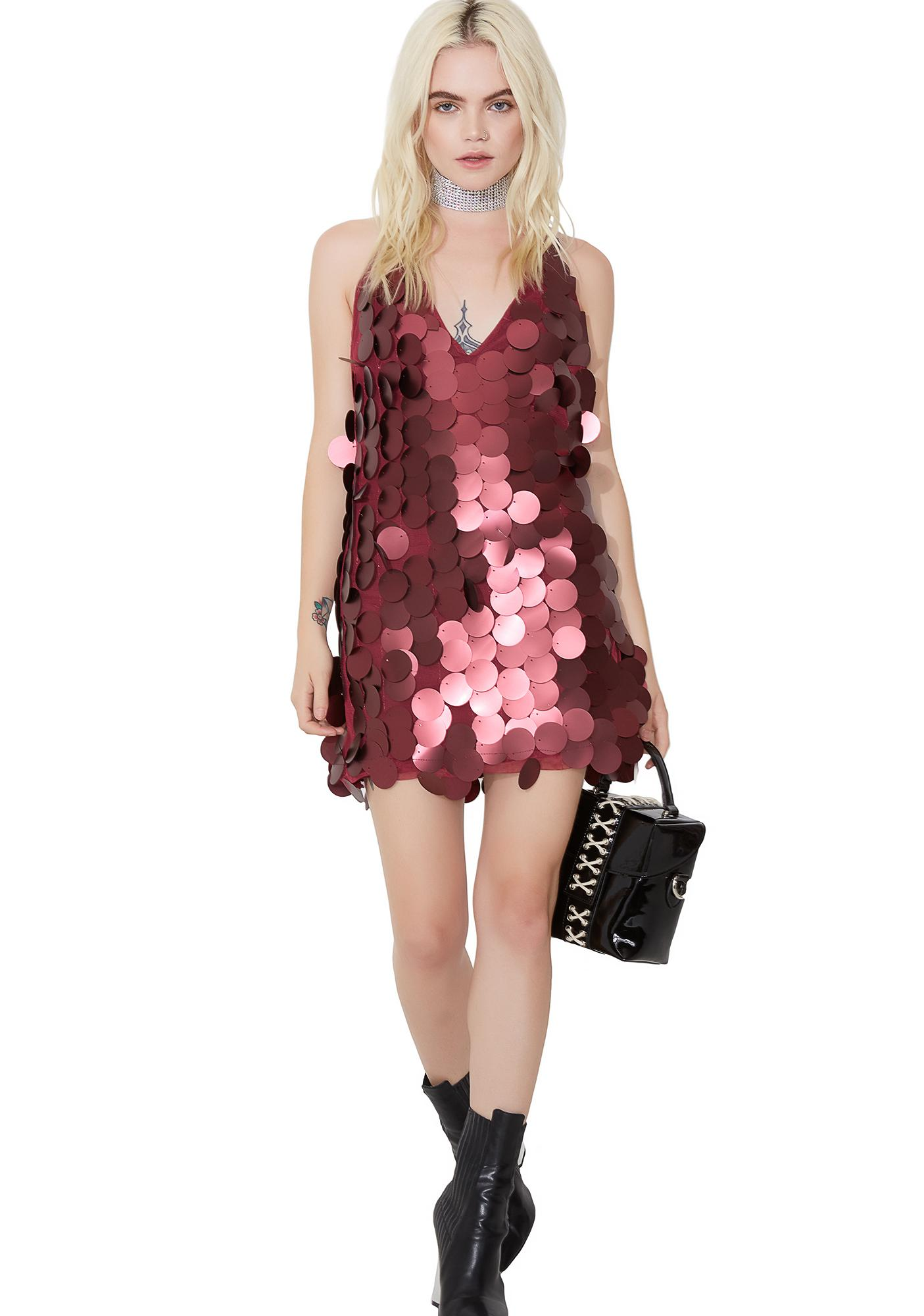 Motel Burgundy Finn Dress