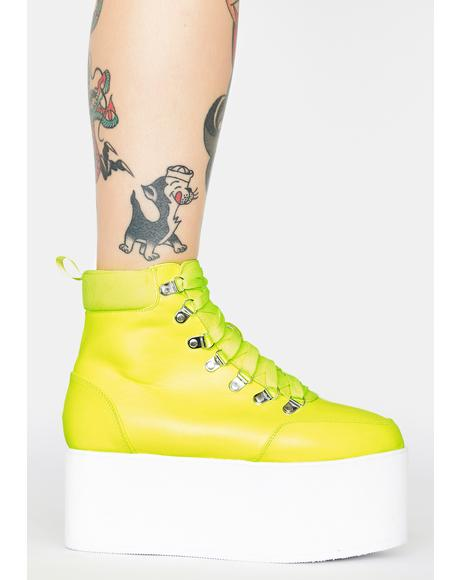 Sour All Time High Platform Boots