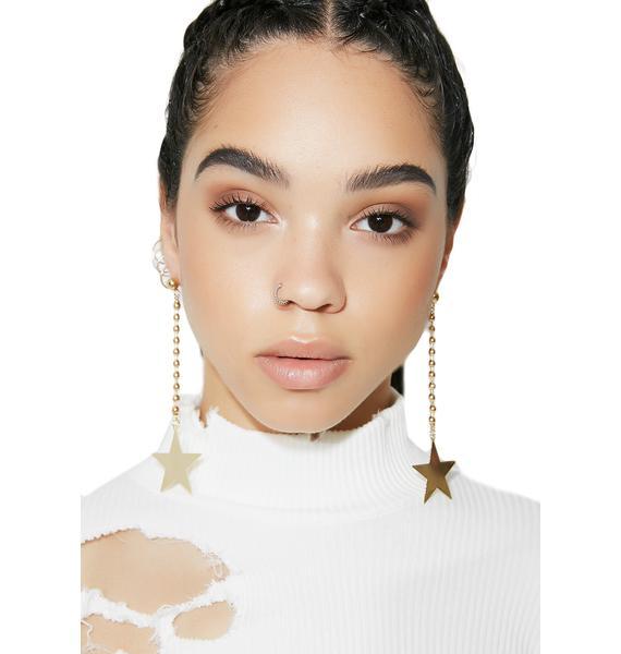 Shining Light Star Drop Earrings