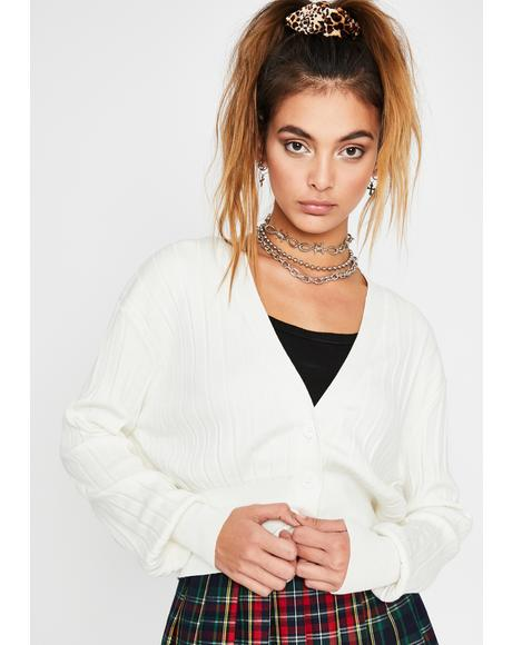 Icy Lil Boujie Babe Knit Cardigan
